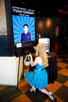 iPhone Theme Sign-In Board, Bar Mitzvah Party {Planning: Party Perfect, Photographer: Jennifer Werneth} - mazelmoments.com