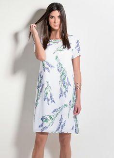 Vestido Reto Estampa Floral Personalizada - Posthaus