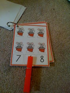 Christmas Number Cards Free