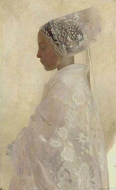 Gaston LaTouche (1854-1913), Maiden in Contemplation, 1893