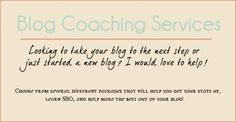 """""""Looking to take your blog to the next step? Need help with your social media profiles? Looking for a little virtual assistance? I am here to help!"""" This lady is a genius for doing this..."""