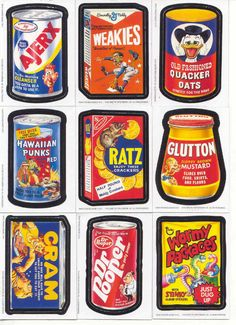 Before there wereGarbage Pail Kids, there wereWacky Packs, a delightfully twisted line of trading cards and stickers for kids. Created by the Topps company in 1967, each card featu…