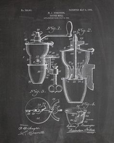 Coffee Grinder Patent Print