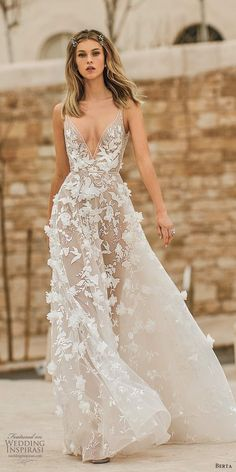 """Muse by Berta 2020 Wedding Dresses — """"Tel Aviv"""" Bridal Collection berta 2020 muse bridal sleeveless plunging v neckline fully embellished romantic ball gown a line wedding dress scoop back sweep train mv -- Muse by Berta 2020 Wedding Dresses Princess Wedding Dresses, Best Wedding Dresses, Bridal Dresses, Lace Dresses, Elegant Dresses, Wedding Corset, Boho Wedding Dress, Wedding Blush, Wedding Lace"""