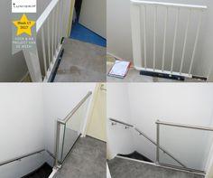 PROJECT VAN DE WEEK! Standaard trapsituatie met een glazen balustrade en RVS leuningen #maatwerk #lessismore #lumigrip