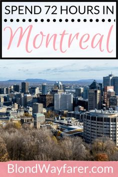 Are you ready to enjoy 72 hours in Montreal? My beginners guide will break down a practical itinerary for 3 days in this cool Canadian city! Canada Travel, Travel Usa, Canada Trip, Travel Guides, Travel Tips, Travel Advice, Canada Destinations, Visit Canada, Koh Tao