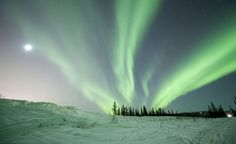 The Northern Lights draw thousands of visitors to Fairbanks. If you stay three nights between August and April, you have an 80 percent chance of a clear view of the aurora, which is reaching a peak in 2013 due to sunspot activity. (From: Photos: Extreme America)