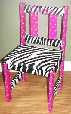 Google Image Result for http://www.petpeoplesplace.com/petstore/pet-image-large/personalized-hand-painted-zebra-print-childrens-chair_280491475252.jpg