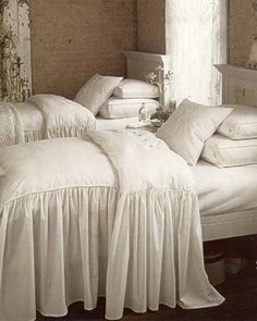 Plum Pretty Sugar.  The bedcovering is so inviting.  Could make this with a removable featherbed insert.