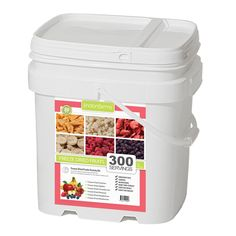 Lindon Farms Disasternecessities Freeze Dried Fruit Bucket with 300 Servings - http://www.disasternecessities.com/product/lindon-farms-disasternecessities-freeze-dried-fruit-bucket-300-servings#