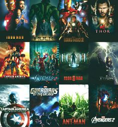 Marvel Movie Order. {except for Ant Man.}