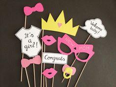 Photobooth accessoires pour babyshower fille - Lot de 10 : Loisirs créatifs, scrapbooking par crea-graphic