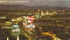 We all know there was a time in Las Vegas when the tallest structures on the strip were neon signage for the various casinos that adorned her.  When the word hotel was still used to describe motel rooms.  A time when the view that from the Top O the Strip...