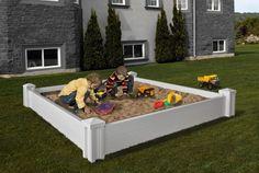 Decorative Vinyl Outdoor VERSAILLES Raised Kids Sandbox w/20 Year Warranty!