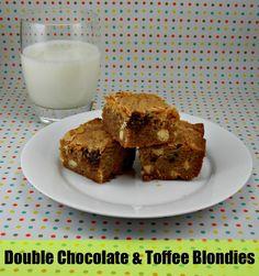 Double Chocolate & Toffee Blondies on MyRecipeMagic.com