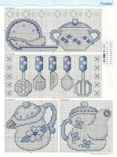 Free Easy Cross, Pattern Maker, PCStitch Charts + Free Historic Old Pattern Books: Sajou No 657 Diy Embroidery, Cross Stitch Embroidery, Embroidery Patterns, Cross Stitch Designs, Cross Stitch Patterns, Cross Stitch Kitchen, Cross Stitch Needles, Cross Stitch Flowers, Le Point