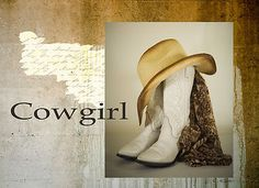 Cowgirl Hat Boot    This southwestern cowgirl boot design is a photography collage.    This art is available on t-shirts.    As seen on:  http://stores.ebay.com/The-Western-Cat-Horse-Cowgirl-Shop  If You Love Your Cowgirl Boots Please Repin.  $24.99