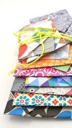 DIY little origami envelopes