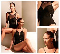 6bd37607f Con elegancia y sutileza Bari refleja la esencia de la mujer en estos trajes  de baño negros  bariswimwear  swimwear