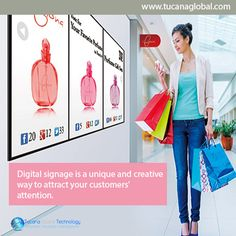 #Digitalsignage is a #unique and #creative way to #attract your #customers' #attention. #TucanaGlobalTechnology #Manufacturer #HongKong