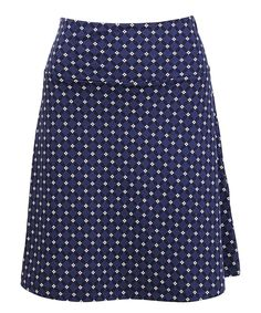Look what I found on #zulily! Stone Blue A-Line Skirt by Louie et Lucie #zulilyfinds