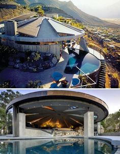 Bond Villain Lair, from Diamonds Are Forever   (And a few other houses from other movies, to inspire The Future Supervillain man Cave)