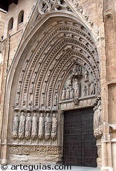 Huesca Cathedral - Gothic Architecture Gothic Architecture, Amazing Architecture, Llamas, Religion, Aragon, Medieval Art, Place Of Worship, Romanesque, Notre Dame