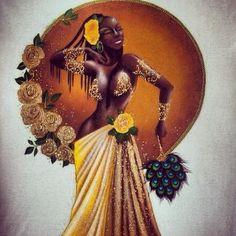 How to Unleash Your Inner Goddess Using Herbs Orisha, African American Art, African Art, Oshun Goddess, African Goddess, Goddess Tattoo, Black Artwork, Black Women Art, Spiritism