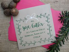 Holiday Calligraphy Envelope Addressing in Abigail T. Calligraphy etsy shop