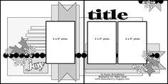 Basic Grey scrapbook sketch