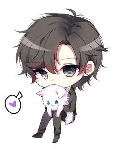 Immagine di mystic messenger, jumin han, and anime Chibi Kawaii, Chibi Boy, Cute Anime Chibi, Cute Anime Boy, Kawaii Anime, Anime Guys, Manga Anime, Anime Male, Kawaii Drawings