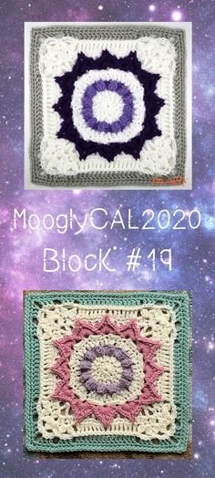 MooglyCAL2020 Block 19 is a lovely floral square by Julie Yeager! This square is a gorgeous combo of texture and design, and will look unique in every color choice! Read on for all the details, and for the link to Block #19 in this free year-long crochet along feauring Red Heart With Love! #freecal #crochetalong #mooglycal #mooglycal2020 #redheartyarns #withlove #freecrochetsquares #freecrochetblocks
