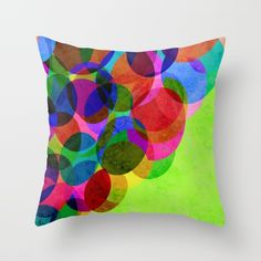 Up Throw Pillow Vibrant Color Balloons