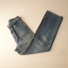 Faded Blue Jeans  Lee Straight Leg Jeans  by thatwasagoodyear, $21.00