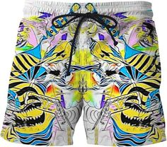 Fancy Illusion Galaxy Space Cute Boys Men S Shorts Swim Trunks Boardshorts for Men