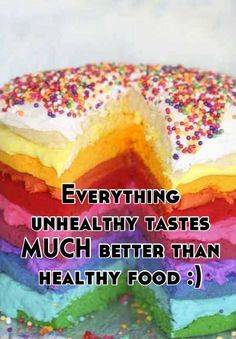 Everything unhealthy tastes MUCH better than healthy food :) Unhealthy Diet, Good Food, Yummy Food, Cupcake Cakes, Cupcakes, Eat Right, Healthy Eating, Healthy Food, Easy Healthy Recipes