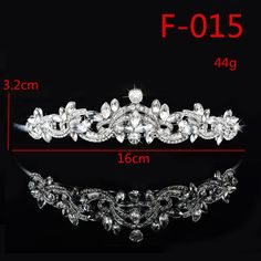 F015 Wedding Women Girl Rhinestone Headband Head Crown Princess Jewelry