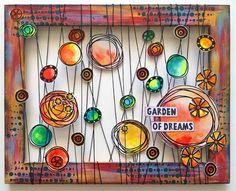 PaperArtsy: 2016 10 Garden of Dreams {by Pavla Hozikova} Mixed Media Journal, Mixed Media Canvas, Mixed Media Art, Mix Media, Art Doodle, Paper Art, Paper Crafts, Diy Crafts, Art Journal Pages