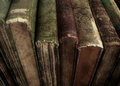 the patina of old leather books...