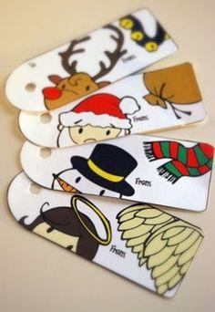 etiquetas imprimibles y gratis para regalos de navidad