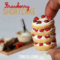 Toni Ellison: Miniature Strawberry Shortcake - Polymer Clay