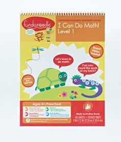 Fundanoodle by Carolina Pad I Can Do Math! Level 1 Activity Book (Ages 3+)