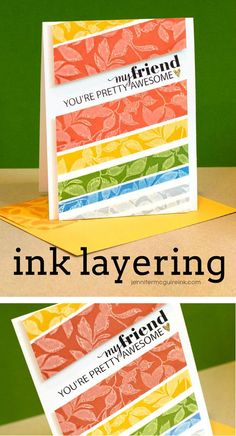 Ink layering (pigment and dye inks) video by Jennifer McGuire Ink