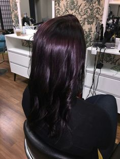 Violet AVEDA hair by bekki is part of Violet hair - Purple Tinted Hair, Deep Purple Hair, Dark Plum Hair, Dark Violet Hair, Violet Hair Colors, Deep Burgundy Hair Color, Plum Color, Dark Purple, Hair Color And Cut