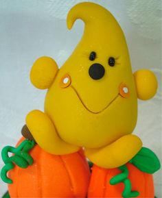 PARKER in a PUMPKIN PATCH - Polymer Clay Character - Limited Edition --- ADOPTED