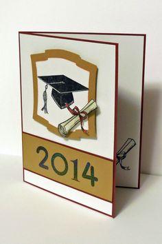 """Graduation card 2014. TPC Studio """"Valedictorian."""" Spellbinders Nestabilities Labels 2"""