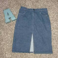 Armani Exchange Denim Skirt Armani Exchange Denim Skirt. Size 6 Skirts Pencil