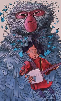 Kubo and Monkey by Newburgart.deviantart.com on @DeviantArt