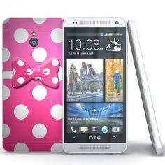 Coque HTC One Mini Noeud Rose ( M4 ).  #HTConeMini #Sleeve #Coque #Telephone