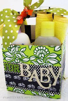 DIY Beverage Holder Baby Shower Gift